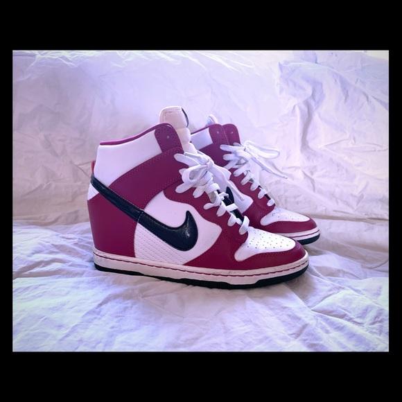 Nike Dunk Sky Hi Pink White Black Wedge Sz 7. M 5c5f28d0035cf1c9e5bffd6e f647fd49e582